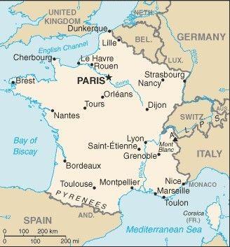 Nantes Karte.Prancūzija France France France Frankreich