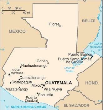 Guatemala Karte.Gvatemala Guatemala Naudingai žinoti Gvatemala Ieškoti