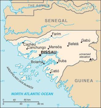 Afrika Karta Guinea.Bisau Gvinėja Guinea Bissau Naudingai Zinoti Bisau Gvinėja